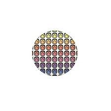 Colorful Tiles Mini Button