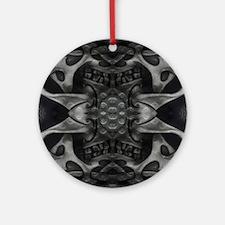 heavy metal cross Round Ornament