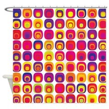Colorful Tile Pattern Shower Curtain