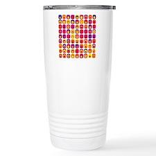 Colorful Tile Pattern Travel Mug