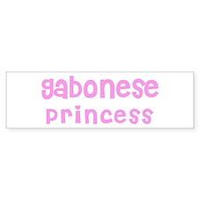 Gabonese Princess Bumper Bumper Sticker