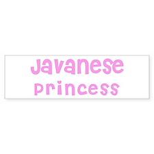 Javanese Princess Bumper Bumper Sticker