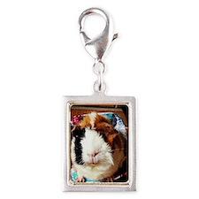 Cutiest Piggy Ever Silver Portrait Charm