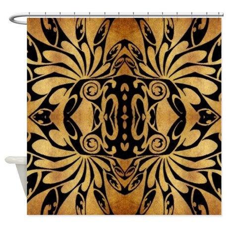 Goth Shower Curtain Part - 33: African Primitive Tribal Shower Curtain