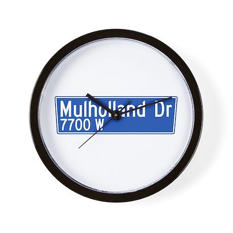 Mulholland Dr., Los Angeles - USA Wall Clock