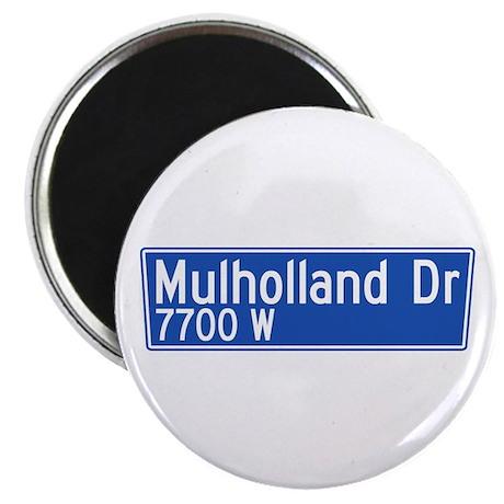 "Mulholland Dr., Los Angeles - USA 2.25"" Magnet (1"