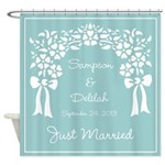 Personalized Wedding Arbor Shower Curtain