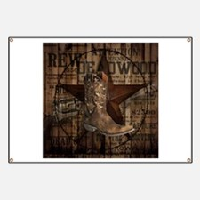 western cowboy Banner