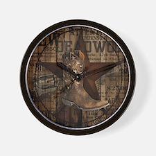 western cowboy Wall Clock
