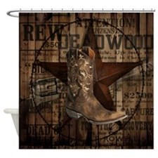 western cowboy Shower Curtain