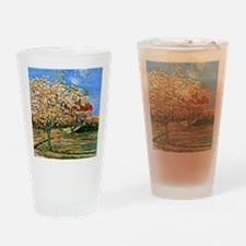 Van Gogh: Orchard in Blossom Drinking Glass
