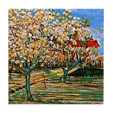 Van Gogh: Orchard in Blossom Tile Coaster