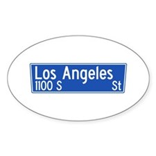 Los Angeles St., Los Angeles - USA Oval Decal