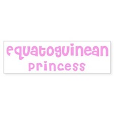 Equatoguinean Princess Bumper Bumper Sticker