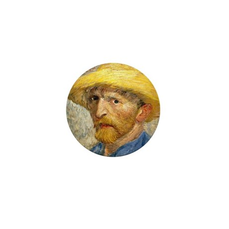 Van Gogh Self-Portrait Mini Button