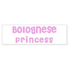 Bolognese Princess Bumper Bumper Sticker