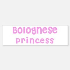 Bolognese Princess Bumper Car Car Sticker