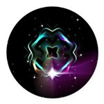 Mystic Prisms - Clover - Round Car Magnet