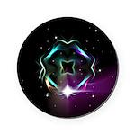 Mystic Prisms - Clover - Round Coaster