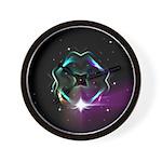 Mystic Prisms - Clover - Wall Clock