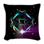 Mystic Prisms - Clover - Woven Throw Pillow
