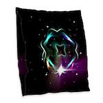 Mystic Prisms - Clover - Burlap Throw Pillow