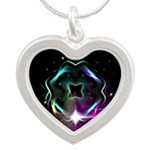 Mystic Prisms - Clover - Silver Heart Necklace