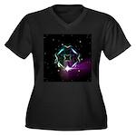 Mystic Prisms - Clover - Women's Plus Size V-Neck