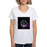 Mystic Prisms - Clover - Women's V-Neck T-Shirt