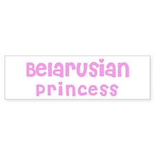 Belarusian Princess Bumper Bumper Sticker
