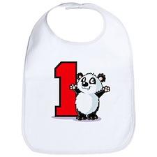 1st Birthday Panda Bib