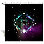 Mystic Prisms - Clover - Shower Curtain