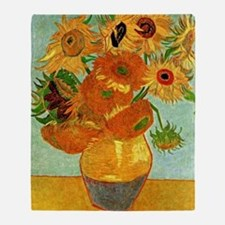 Van Gogh - Still Life Vase with Twel Throw Blanket
