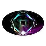 Mystic Prisms - Clover - Sticker (Oval 50 pk)