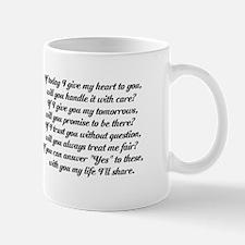 Love Pledge Poem Mug