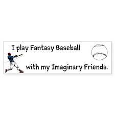 Fantasy Baseball Bumper Sticker