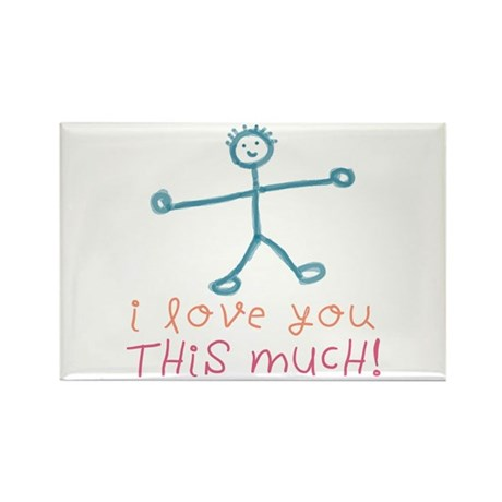 I Love You This Much Rectangle Magnet (10 pack)