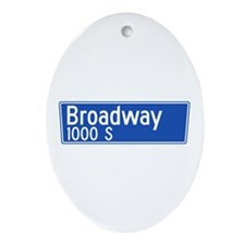 Broadway, Los Angeles - USA Oval Ornament