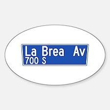 La Brea Ave., Los Angeles - USA Oval Decal