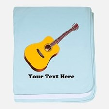Guitar Personalized baby blanket