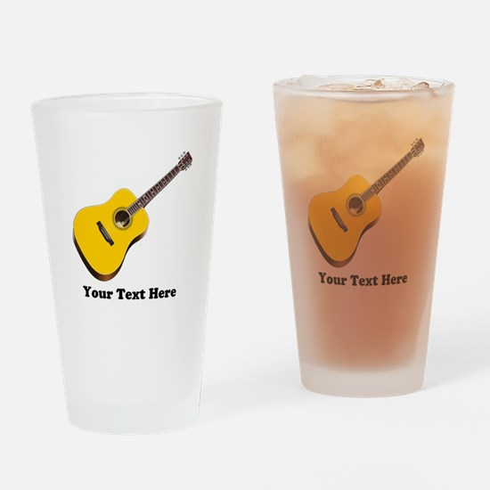 Guitar Personalized Drinking Glass