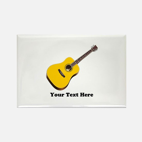 Guitar Personalized Rectangle Magnet