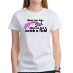 Move Over Boys - Fish Women's T-Shirt