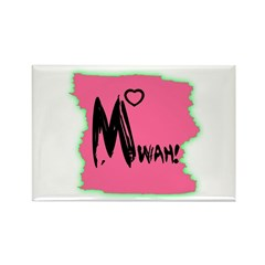 MWAH! Rectangle Magnet (100 pack)