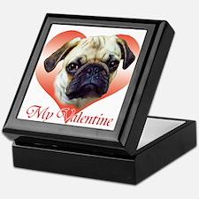 Pug Valentine Keepsake Box