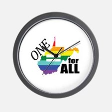 West Virginia one equality blk font Wall Clock