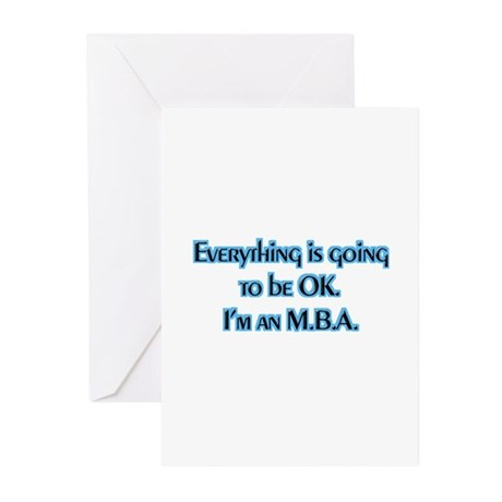 OK I'm an MBA Greeting Cards (Pk of 10)