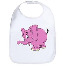 Pink Elephant Bib