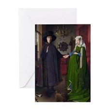 Arnolfini Marriage (by Jan van Eyck) Greeting Card