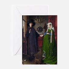 Arnolfini Marriage (by Jan van Eyck) Greeting Card